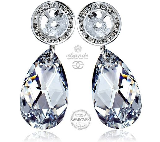 Srebrne kolczyki z kryształami Swarovskiego