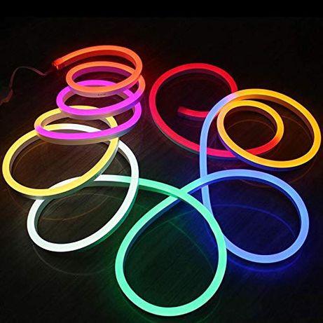 LED светодиодная лента 12В/24В/220В, LED светодиодный неон 12В/220В,