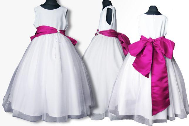 Elegancka sukienka na bal, wesele, komunia 146/152