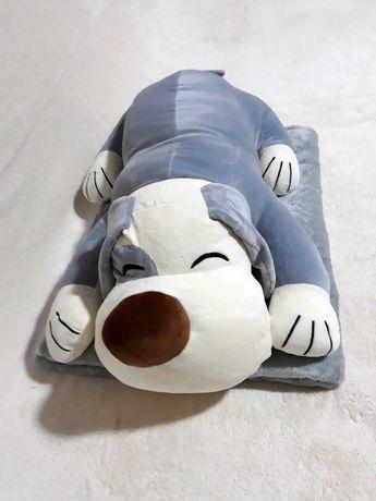 Плед - мягкая игрушка подушка 3 в 1 единорог щенок кошка крабик лапка