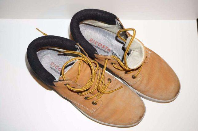 Skórzane ocieplane zimowe jesienne buty Ricosta rozm. 37 wkładka 25 cm