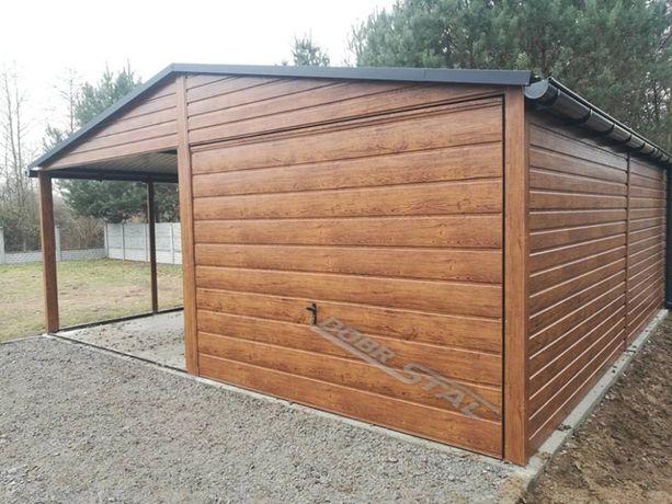 Garaż 6x6 Kolor Drewnopodobny, Profil, Poziom