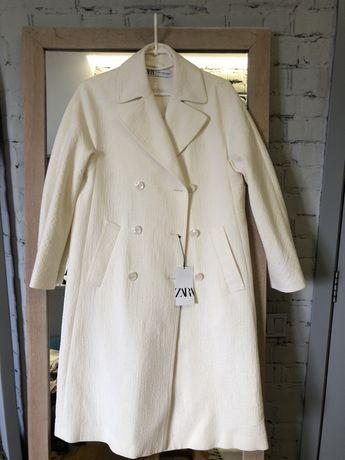 Новое! Летнее Пальто из хлопка Zara (mango, massimo dutti, cos) тренч
