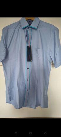 Nowa Koszula męska na krótki rękaw, nowa z metką, 41, XL, firma  LEGER