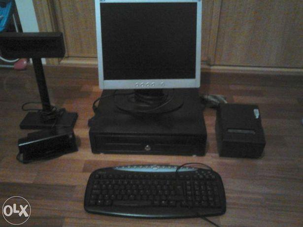 Computador com acessórios