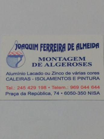 Montagem de algeros , caleiras