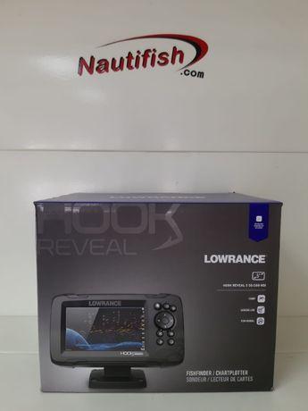 "Sonda Gps Hook Reveal 5"" com Transdutor 50/200 HDI (nova)"
