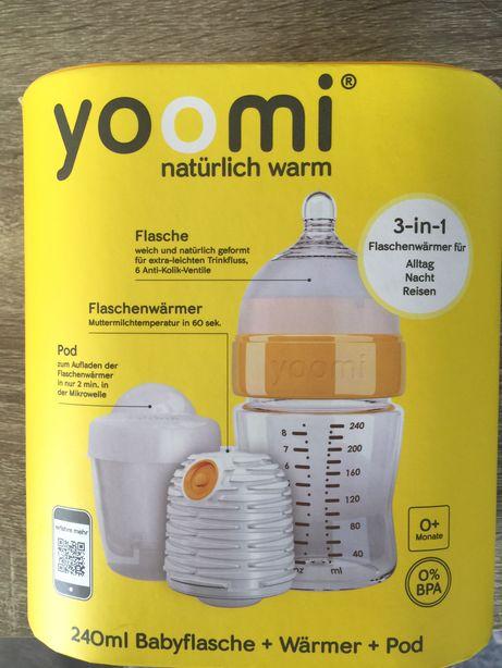 Детская бутылочка Yoomi Юми самонагревающаяся, бутылочка-подогреватель
