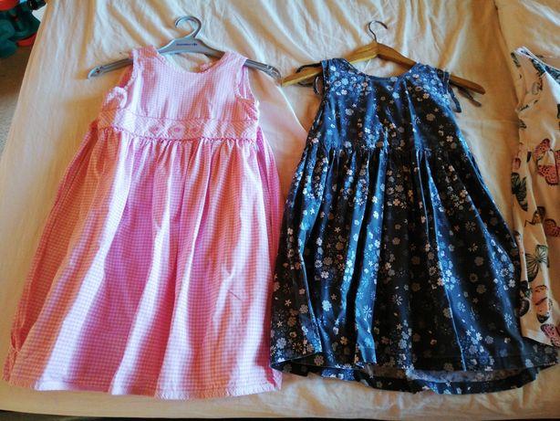 5 x Sukienki 122 różne kolory motyle ptaszki Barbie