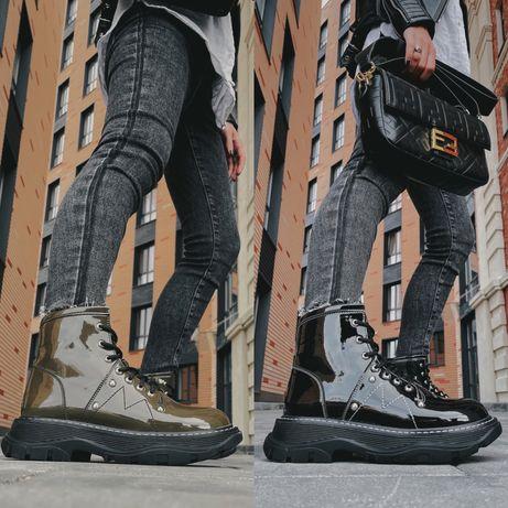 Женские ботинки ALEXANDER MCQUEEN Tread Slick Boots 36-40 Наложка!