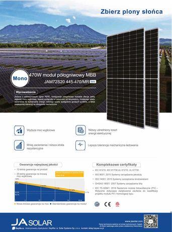 Fotowoltaika Instalacja fotowoltaiczna 5,46kwp AFORE /JA Solar 455wp