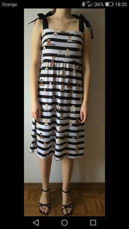 Nowa sukienka Mohito z motywem Barbie r. XS/S