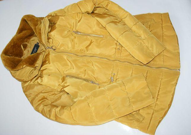 Monari kurtka pikowana jesienno zimowa miodowa nowa