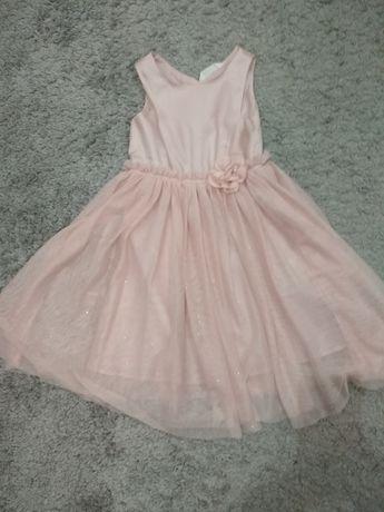 Нарядное пудровое платье, фатиновое
