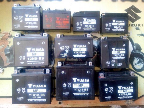 Аккумулятор для скутера 12 вт 4,6,7,9,12 АЧ АКБ 12вольт на мопед Yuasa