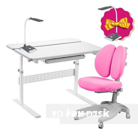 Парта и кресло ортопедическое + чехол + лампа. Доставка бесплатно