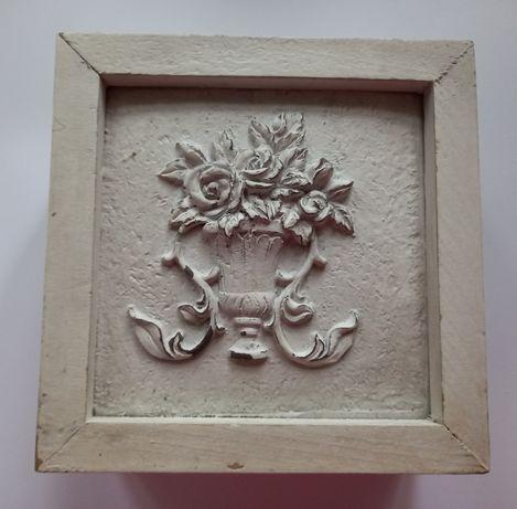 Pojemnik na herbatę drewniany biały