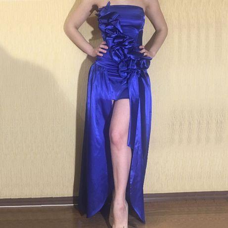Платье шёлковое 2в1 вечернее выпускное 40 р-р