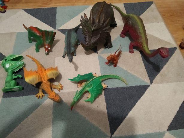 Zestaw dinozaury smoki