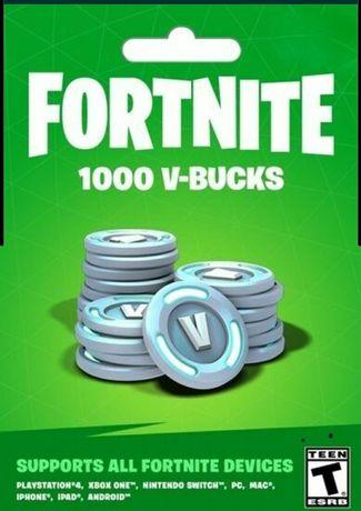 В баксы, V-Bucks, код на скины фортнайт, Fortnite.