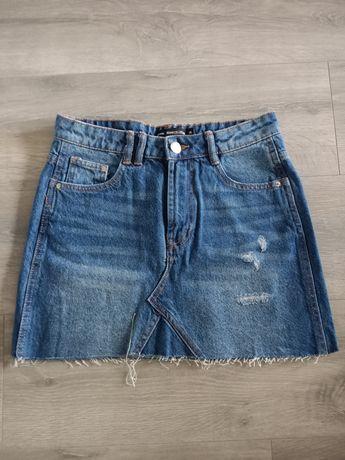 Spódniczka jeansowa mini, sklep Sinsay