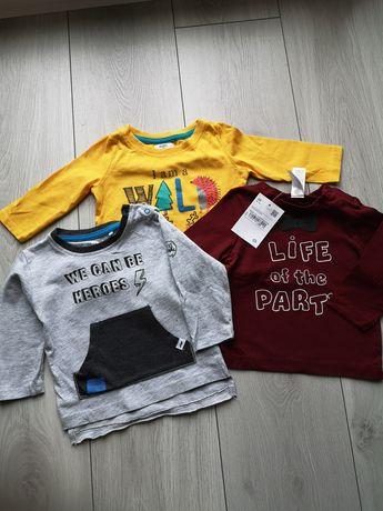 3szt bluzki niemowlęce. 5.10.15 C&A Pepco. rozm 68
