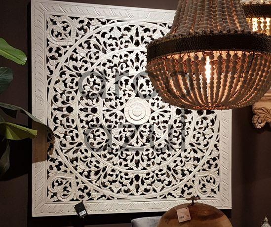 NOVO: Painel Decorativo / Cabeceira de Cama Mandala Branca 160x160cm