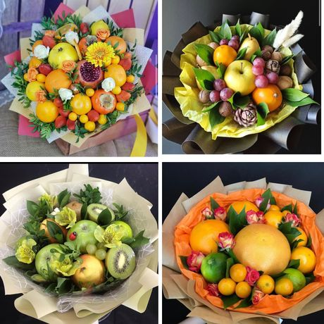 Оригинальный подарок букет из фруктов/конфет/сухофруктов/зефира