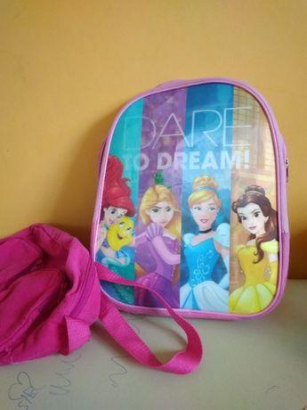 plecak dla dziewczynki i torebka