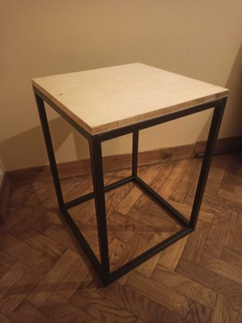 Hoker stołek barowy mały stolik loft industrial drewno krzesło