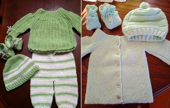 Roupa de Bebé em Crochet, Tricot e com Bordados