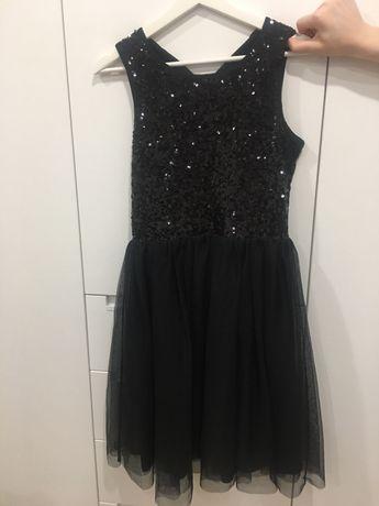 Платье черное с пайетками, на рост 170