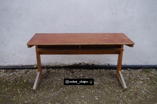Biurko szkolne ławka lata 70 mid century vintage jak Casala