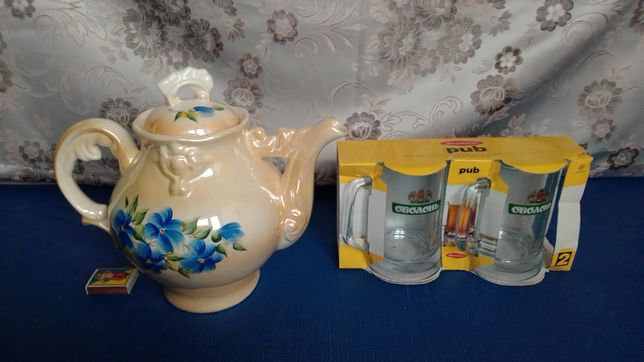 Чайник фарфоровий+подарок