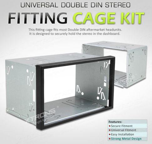 Caixas Metálicas 2DIN de suporte para rádios universais de Duplo DIN