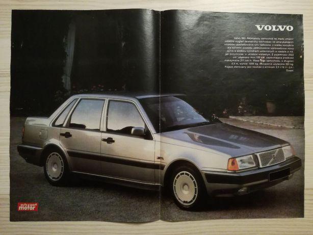 Plakat Poster Volvo 460 33,5cm x 47,5cm Samochody Motoryzacja Auto Łoś