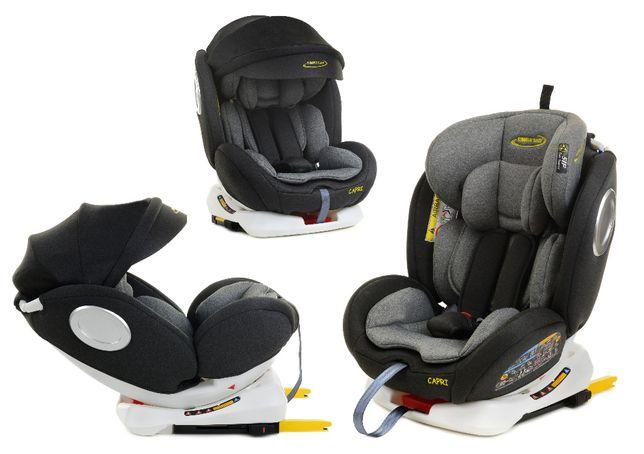 Fotelik obrotowy 360° 0-36kg marki Summer Baby model CAPRI z Daszkiem