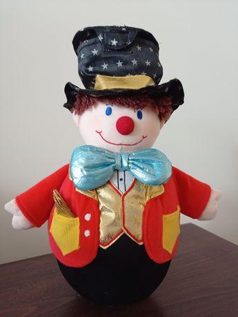 Мягкий клоун, игрушка неваляшка,высота 35 см