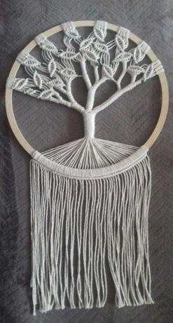 Makramowe drzewo życia