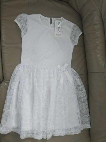 Śliczna biała koronkowa suknia 122