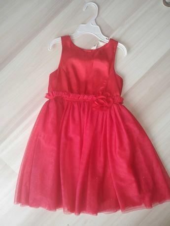 Czerwona sukienka H&M r.116