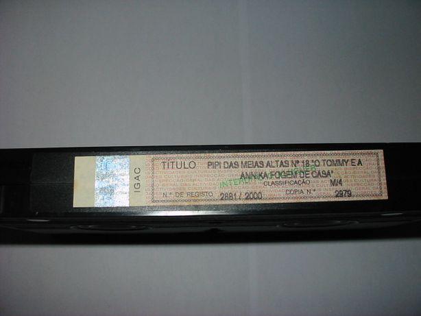 Pipi das Meias Altas - Cassetes VHS