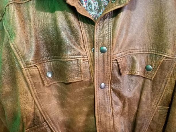 Продам кожаную мужскую курточку.