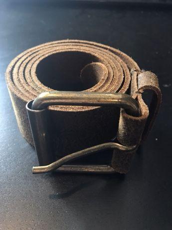 Skórzany pasek brązowy H&M roz. 100