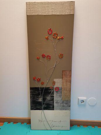 Quadro decorativo com relevo