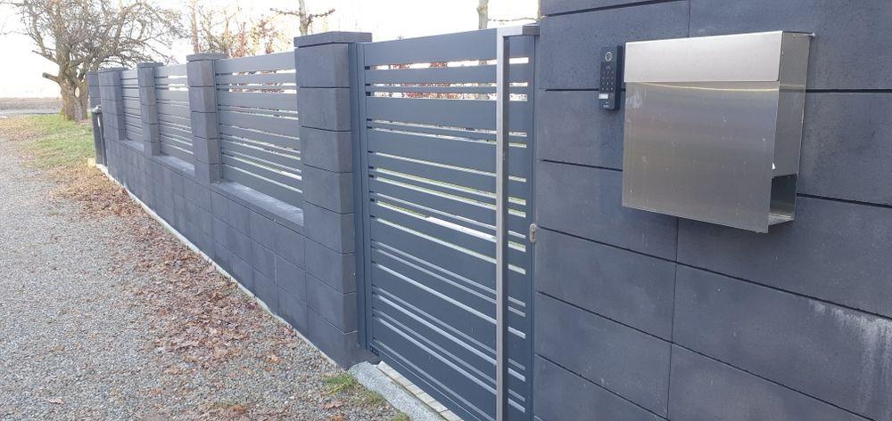 Ogrodzenia panelowe murowane aluminiowe Brzeszcze - image 1