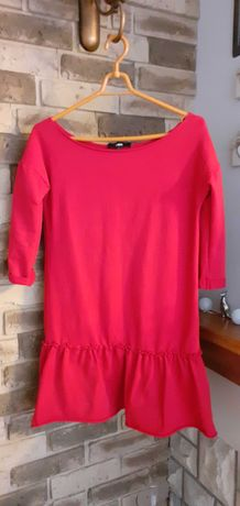 Czerwona dresowa sukienka answear S