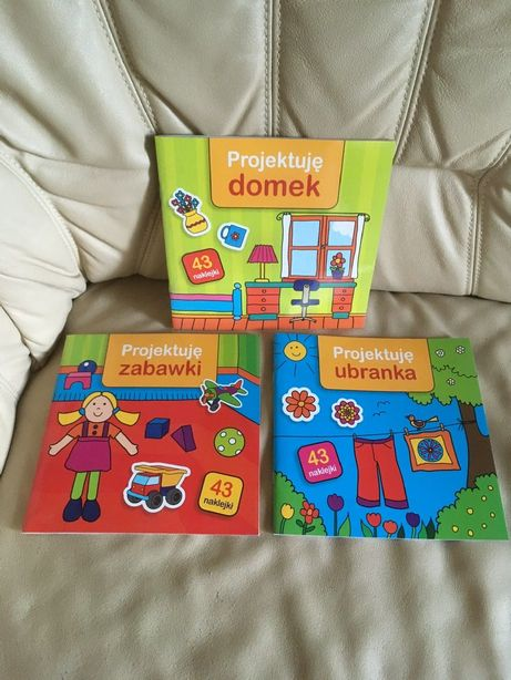 Nowe książeczki Projektuję ubranka zabawki domek kolorowanki naklejki