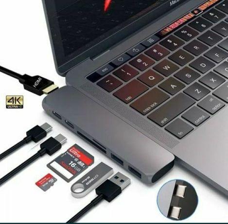 Адаптер/переходник/USB-hub хаб Macbook Satechi Aluminum Space Gray