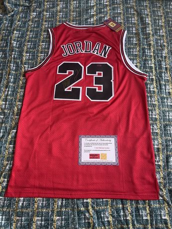Koszulka Michael Jordan Chicago Bulls oryginalny autograf Certyfikat